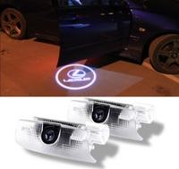 Проекция логотипа Lexus в двери