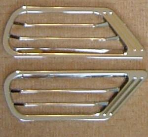 Хромированные накладки на воздуховоды LAND CRUISER 100