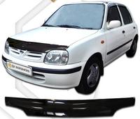 Дефлектор капота (черный) NISSAN MARCH (1999-2001)