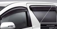 Ветровики на двери оригинальные для Toyota ALPHARD (2008-)