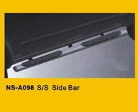 Nissan Navara D40 Frontier Защита порогов овальные со ступеньками, нерж. сталь