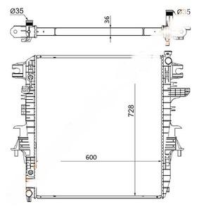Радиатор оснавной для NISSAN PATROL/INFINITI QX56 10-