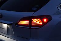 Диодные стоп-сигналы в стиле RX 2016г дымчатые для Lexus rx270\rx350\rx400h 2013г.-