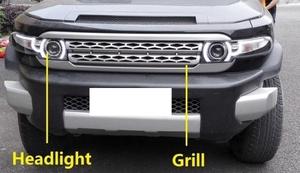 Фары, решетка радиатора и стопы в стиле Range Rover TOYOTA FJ CRUISER