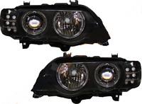 Фара BMW X5 01-03 черные тюнинг