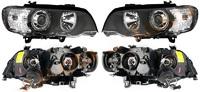 Фара BMW X5 01-03 хром тюнинг