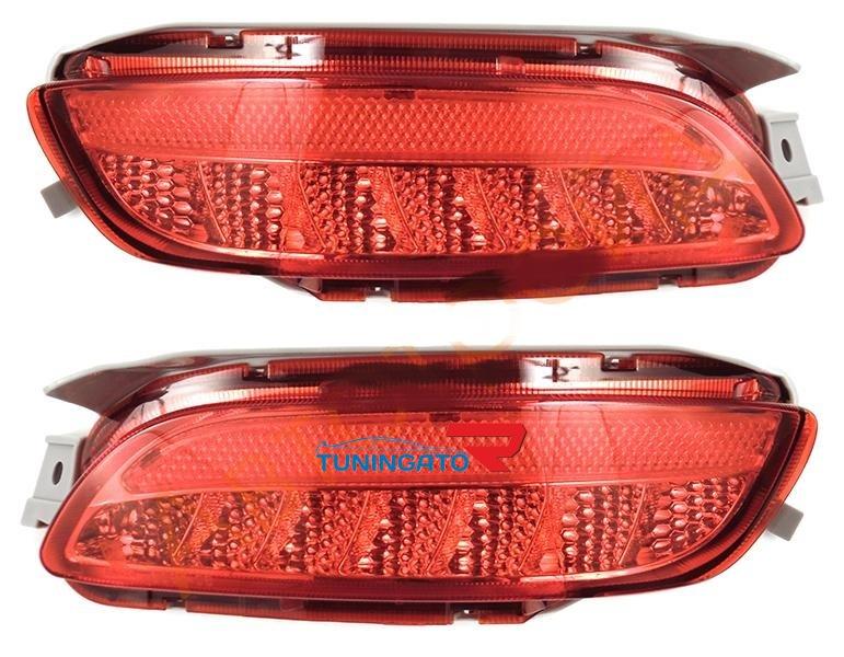 Диодные фонари в задний бампер красные для Toyota Harrier 02-09г.