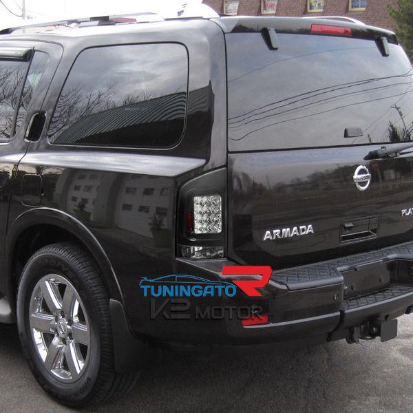 Диодные стоп-сигналы черные для Nissan Armada 04-10