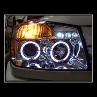 Фары тюнинговые (хром) для Nissan Armada 04-10 , Halo Projector Headlights