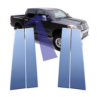 Хром накладки на дверные стойки для Nissan Titan 2004-12г.