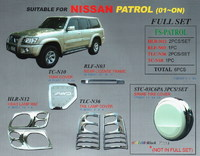 Хромированные накладки на стоп-сигналы TLC-N36 NISSAN SAFARI Y61