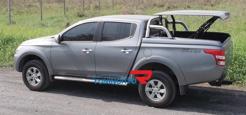 Крышка Mitsubishi L200 NEW D/Cab c 2015- Euro Star с дугой в грунте