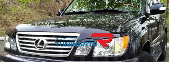 Реснички на фары Корея на Toyota LC Cygnus \Lexus LX470