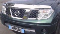 Дефлектор капота (хром) для Nissan Pathfinder / Navara