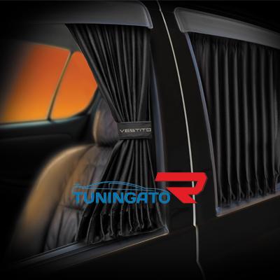 Автомобильные шторы «Vestito» черные