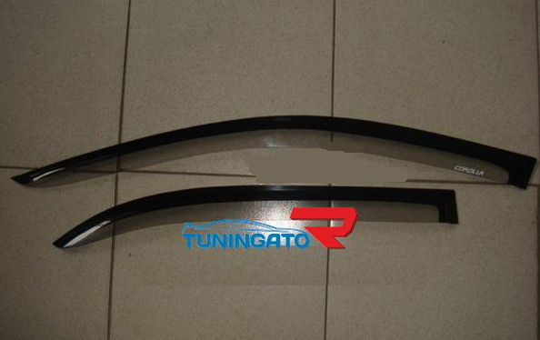 Ветровики дверные (двухцветные) для TOYOTA CARINA 190 (92-96)
